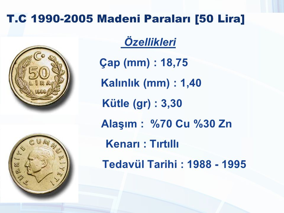 T.C 1990-2005 Madeni Paraları [50 Lira]